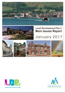 A photgrpah of the front cover of North Ayrshire Council's local Development Plan