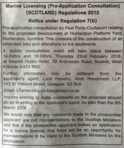 Comment on Peelports Pre-Consultation for Jetty Construction