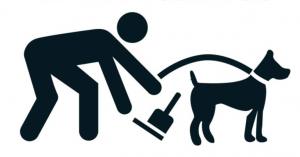 A pick up your dog poo graphic