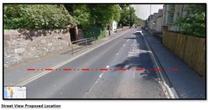 A78 street view of pedestrian crossing