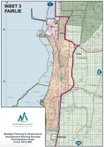 A map showing development areas contained in Local development Plan