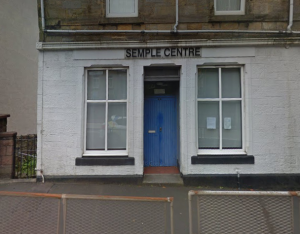 A photograph of the Semple Centre on Main Street