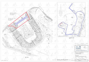 A picture showing techincal drawings of Hunterston construction yard