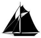 A small logo graphic of a classic yacht